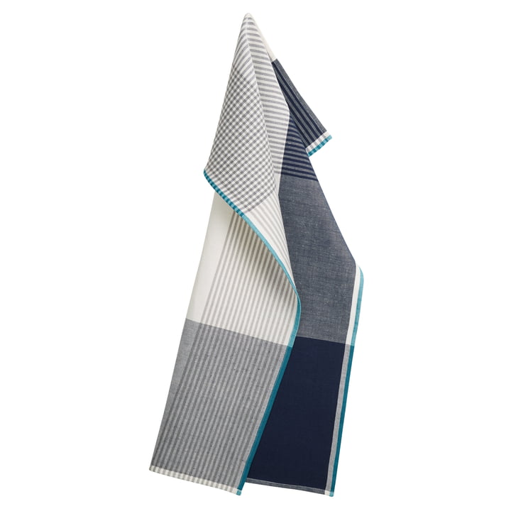Becker 63 Geschirrtuch 50 x 80 cm von Georg Jensen Damask in Deep Blue