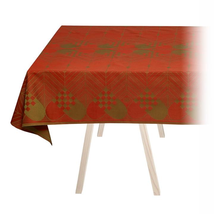 Weihnachts-Tischdecke von Georg Jensen Damask in Weihnachtsrot