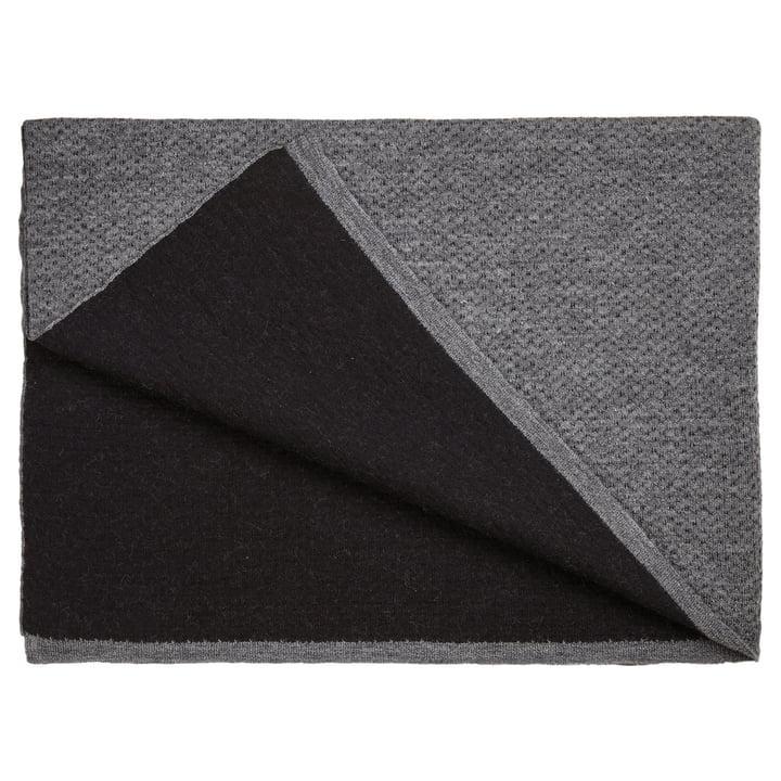 Die Georg Jensen Damask - Flecked Wollplaid in schwarz / grau