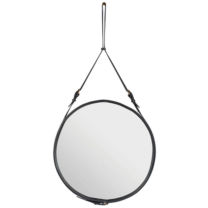Adnet Spiegel Ø 70 cm von Gubi in Schwarz