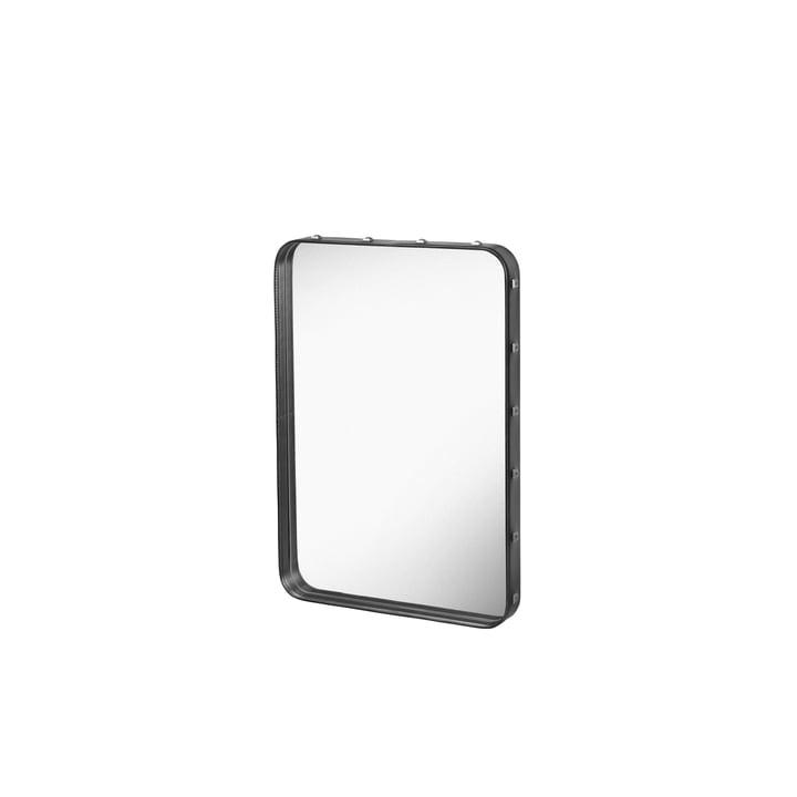 Adnet Spiegel 70 x 48 cm von Gubi in Schwarz