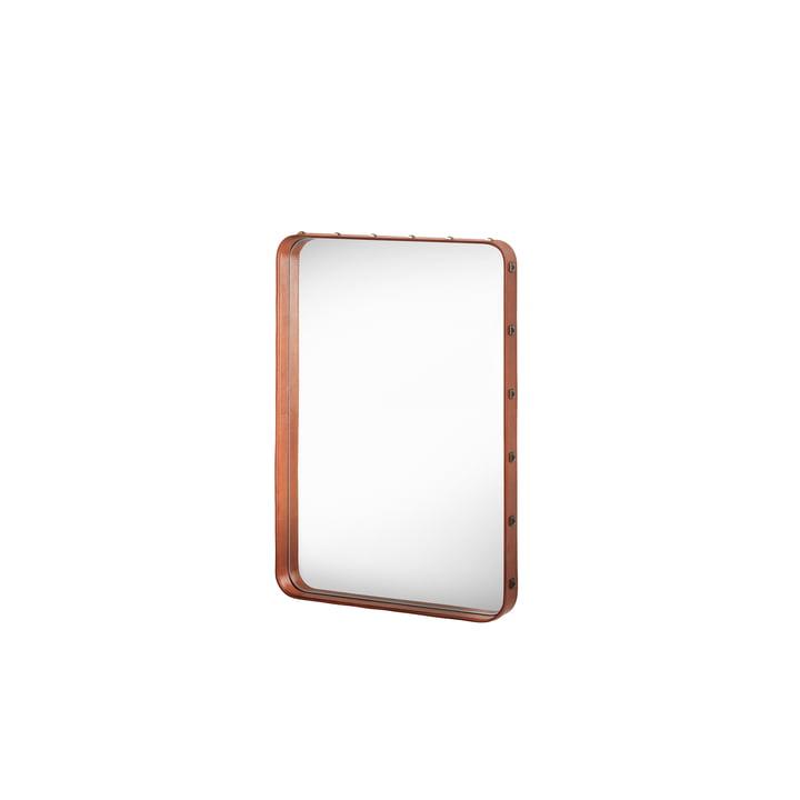 Adnet Spiegel 70 x 48 cm von Gubi in Braun