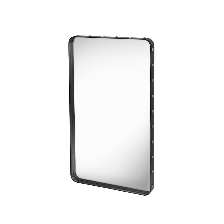 Adnet Spiegel 115 x 70 cm von Gubi in Schwarz