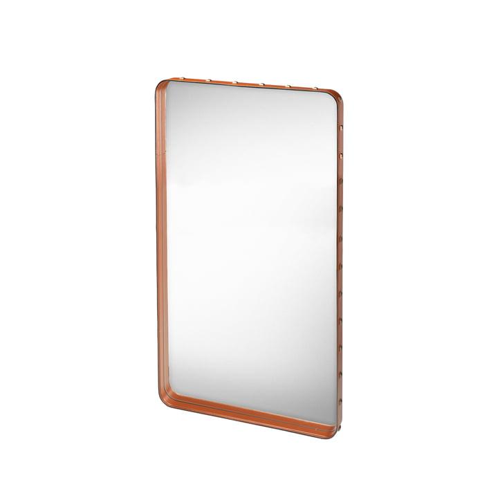 Adnet Spiegel 115 x 70 cm von Gubi in Braun
