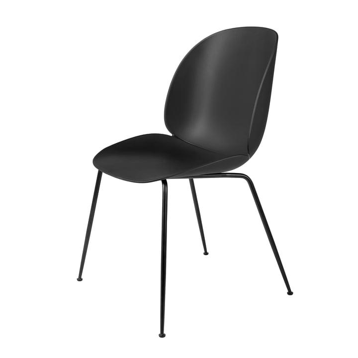 Beetle Dining Chair Conic Base von Gubi in Schwarz / Schwarz