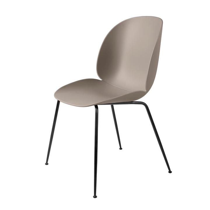 Beetle Dining Chair Conic Base von Gubi in Schwarz / New Beige