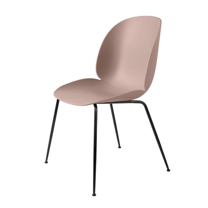 Beetle Dining Chair Conic Base von Gubi in Schwarz / Sweet Pink