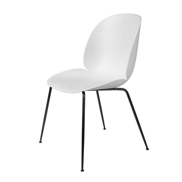 Beetle Dining Chair Conic Base von Gubi in Schwarz / Weiß