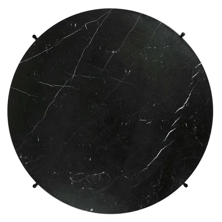 Schwarze Marmorplatte des TS Couchtischs von Gubi