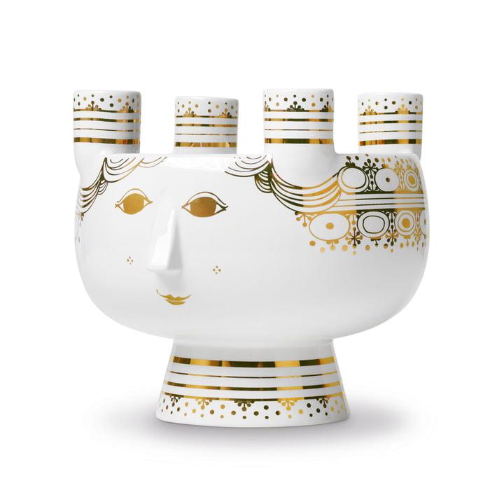 Kerzenständer Lucia H 15 cm von Bjørn Wiinblad in Gold