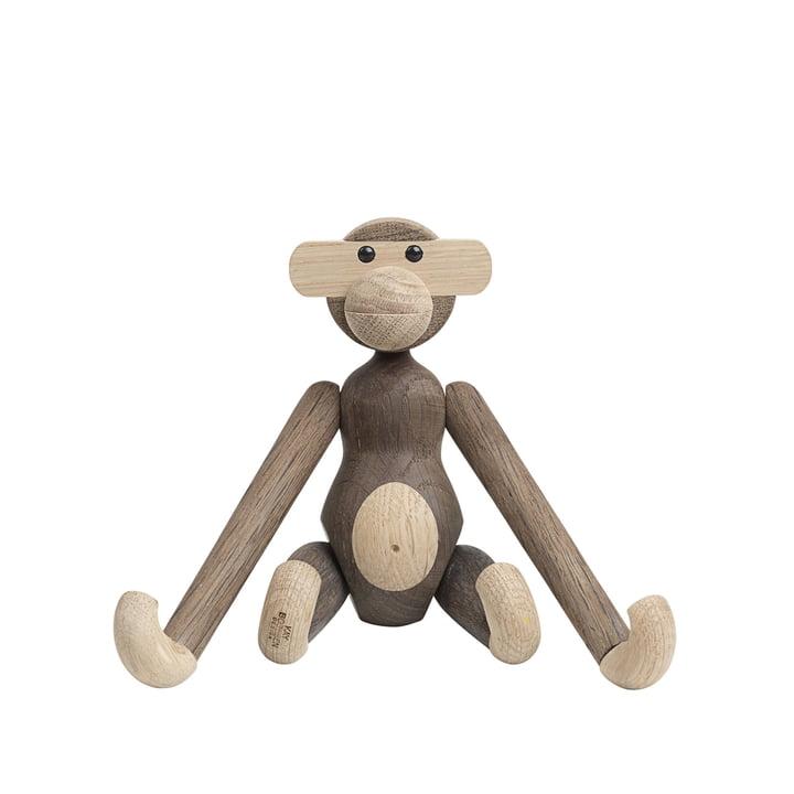Holz-Affe klein von Kay Bojesen in Eiche geräuchert / Eiche natur