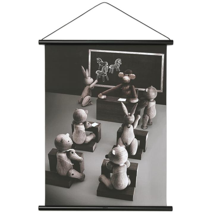 Affe Foto Klassenzimmer inkl. Rahmen 40 x 56 cm von Kay Bojesen