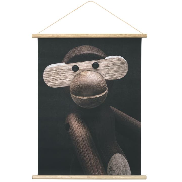 Affe Porträt inkl. Rahmen 40 x 56 cm von Kay Bojesen
