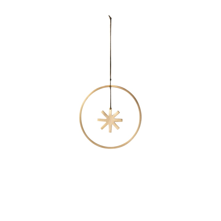 Winterland Messing-Ornament Stern Ø 9 cm von ferm Living
