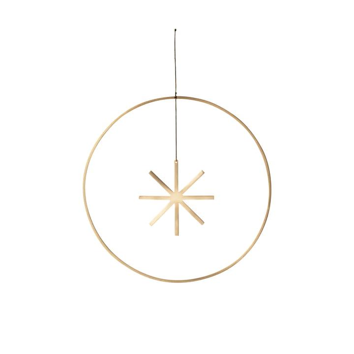Winterland Messing-Ornament Stern Ø 25 cm von ferm Living