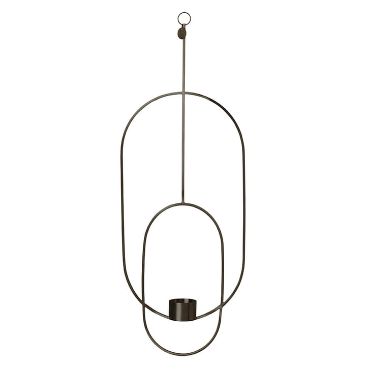 Ovaler Teelichthalter zum Aufhängen von ferm Living in Schwarz