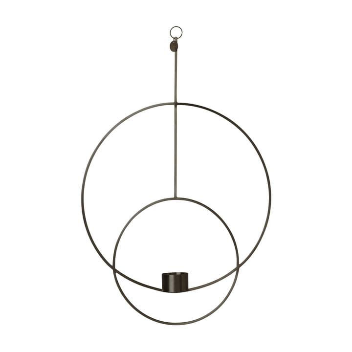 Runder Teelichthalter zum Aufhängen von ferm Living in Schwarz