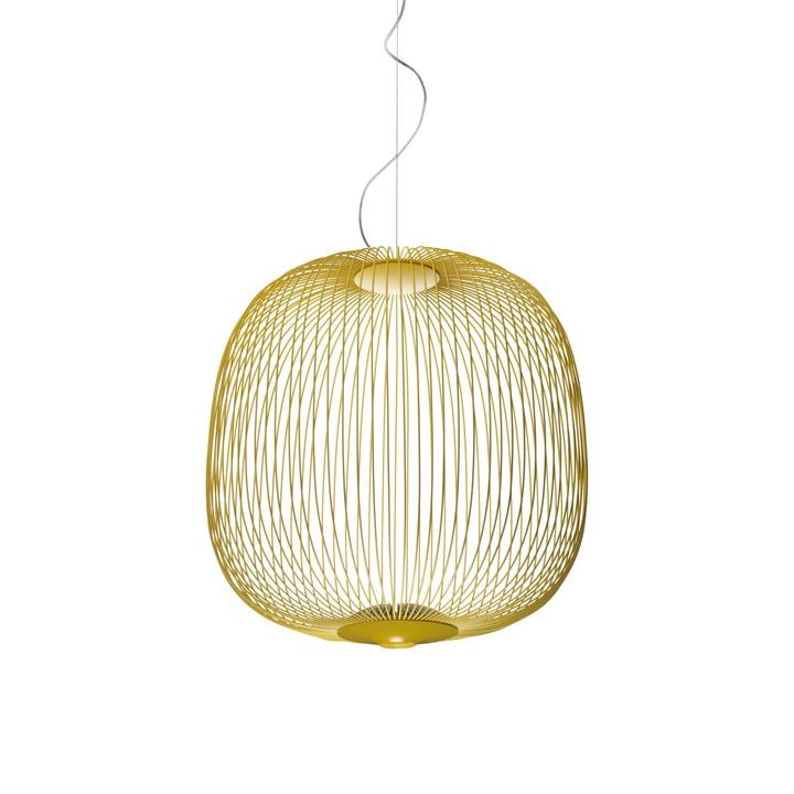 Spokes LED-Pendelleuchte 2 von Foscarini in Gelb