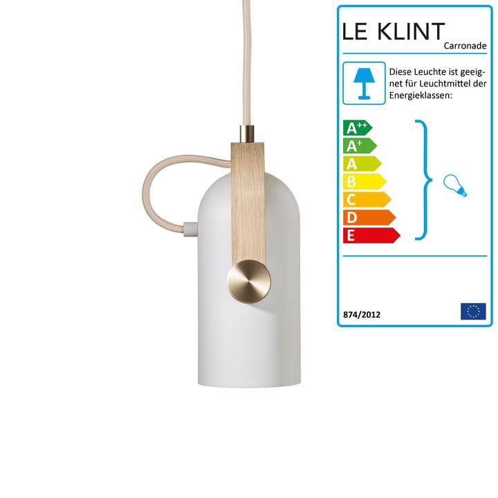 Carronade 160 Pendelleuchte Nordic Special von Le Klint in Eiche geseift / Messing
