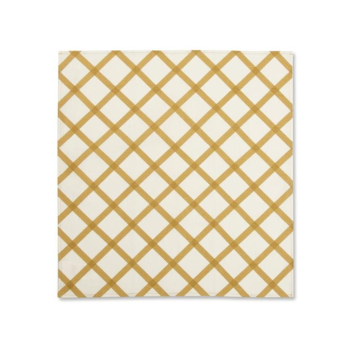Quilt Stoffserviette von Marimekko in Gold / Weiß