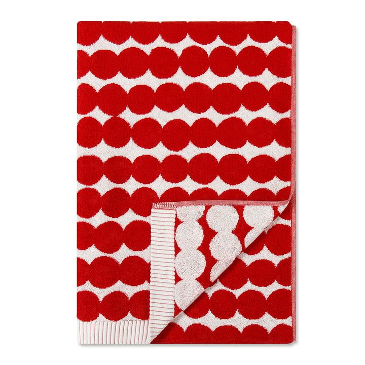 Räsymatto Badetuch 70 x 150 cm von Marimekko in Rot