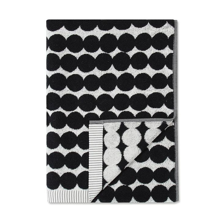 Räsymatto Badetuch 70 x 150 cm von Marimekko in weiß / schwarz