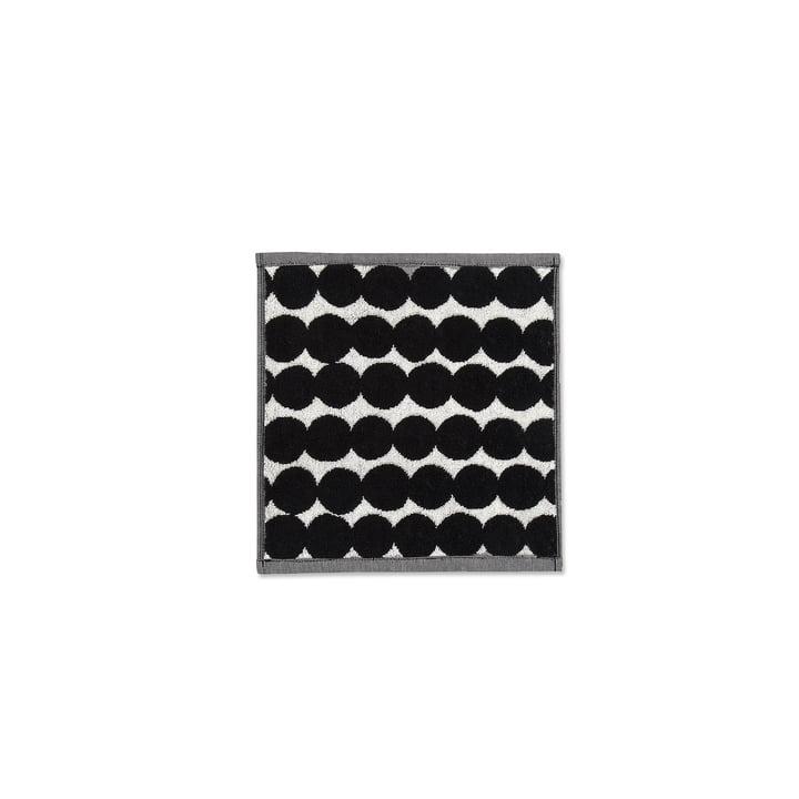 Räsymatto Mini-Handtuch 30 x 30 cm von Marimekko in weiß / schwarz