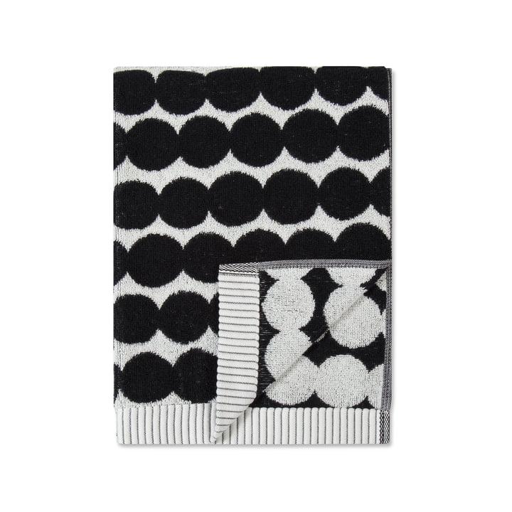 Räsymatto Handtuch 50 x 100 cm von Marimekko in Schwarz