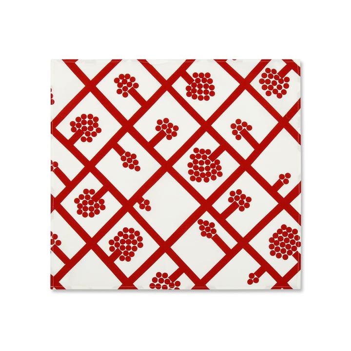 Spaljé Stoffserviette von Marimekko in Rot / Weiß