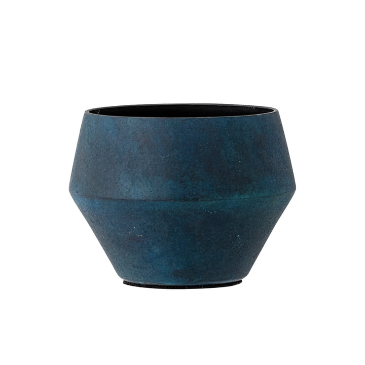 Teelichthalter Aluminium von Bloomingville in Blau