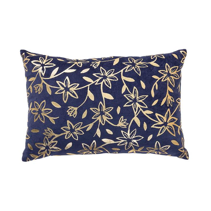 Kissen mit Golddruck 40 x 60 cm von Bloomingville in Blau