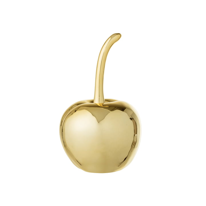 Deko-Kirsche Ø 5, H 9 cm von Bloomingville in Gold
