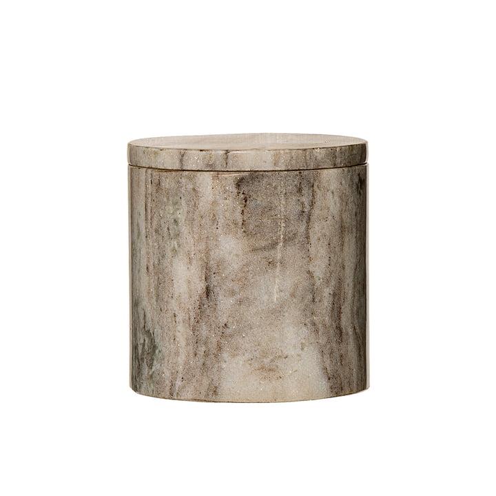 Aufbewahrungsdose mit Marmordeckel Ø 12 x H12 cm von Bloomingville in Marmor Sand