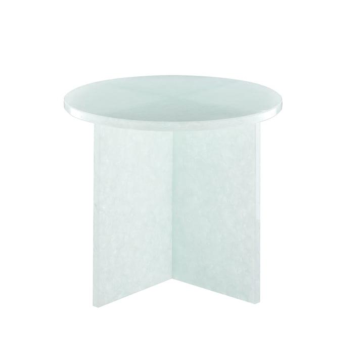 Font Round Tisch small H 46 x Ø 44 cm von Pulpo in Polarweiß