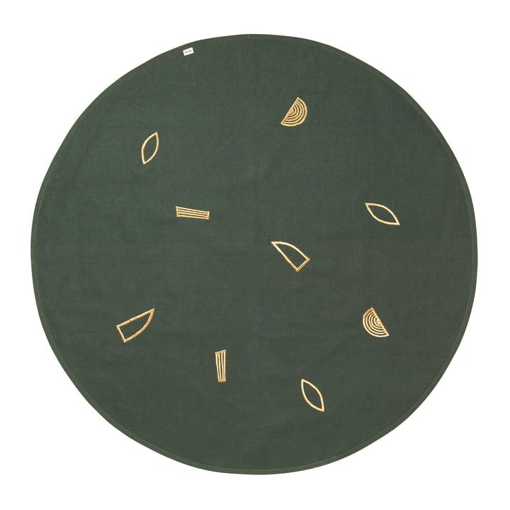ferm living - Weihnachtsbaum-Decke Ø 120 cm, gold / grün