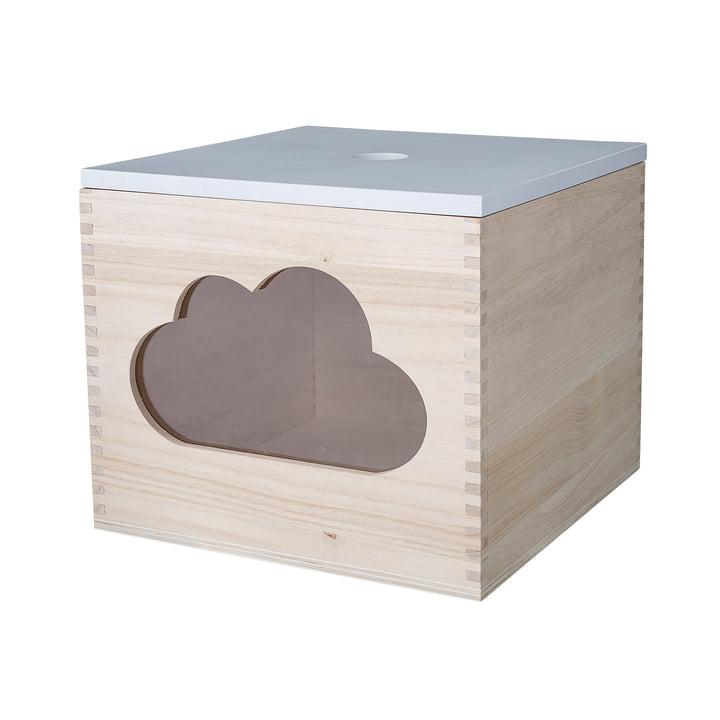Spielzeugkiste Wolke von Bloomingville in Weiß/ Natur