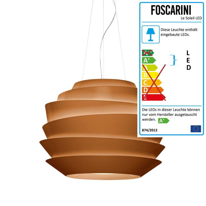 Foscarini - Le Soleil Pendelleuchte LED, Kupfer