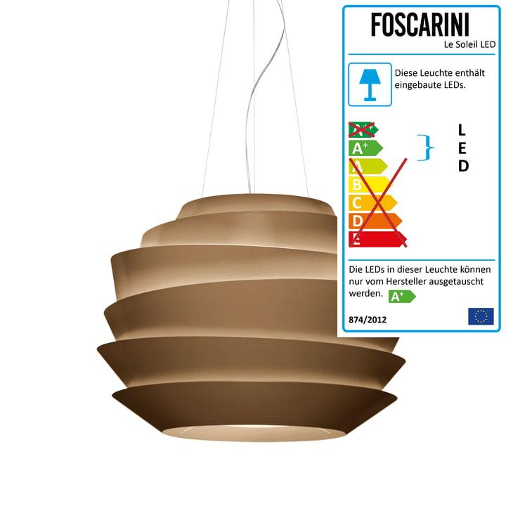 Foscarini - Le Soleil Pendelleuchte LED, bronze