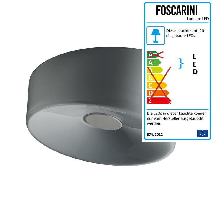 Foscarini - Lumiere XXL Wand- und Deckenleuchte LED, grau