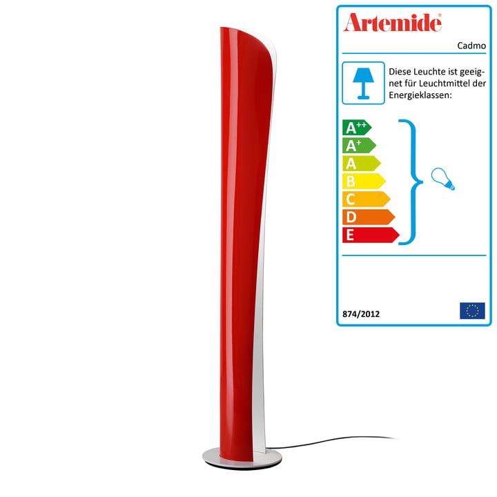 Artemide - Cadmo Stehleuchte, rot / innen weiß