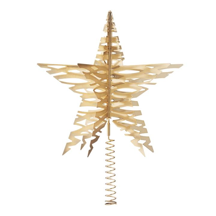 Tangle Weihnachtsbaum Stern von Stelton in Messing