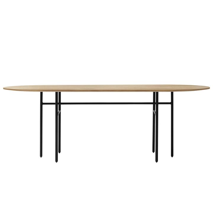 Menu - Snaregade Table oval, schwarz / Eiche