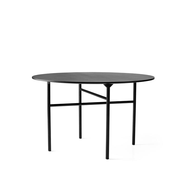 Snaregade Tisch Ø 120 cm von Menu in Schwarz furniert