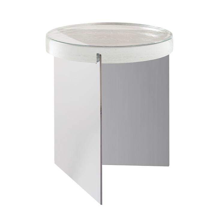 Der Pulpo - Alwa One Tisch, H 44 x Ø 38 cm in transparent / silber