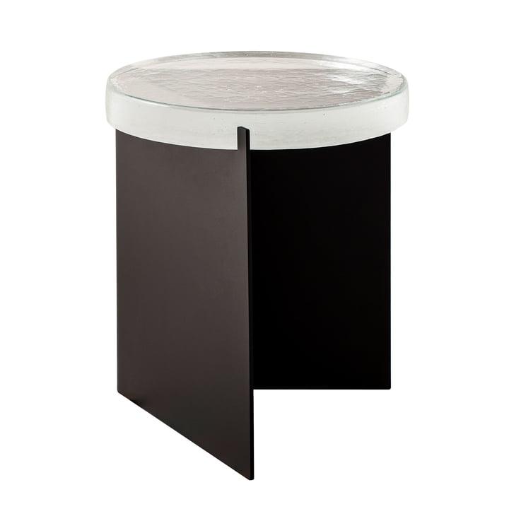 Der Pulpo - Alwa One Tisch, H 44 x Ø 38 cm, transparent / schwarz