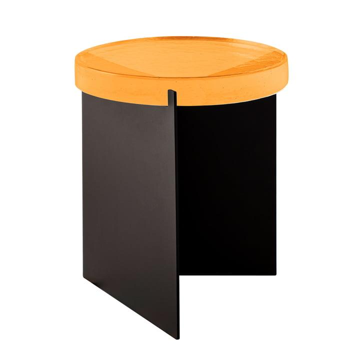 Der Pulpo - Alwa One Tisch, H 44 x Ø 38 cm in amber / schwarz