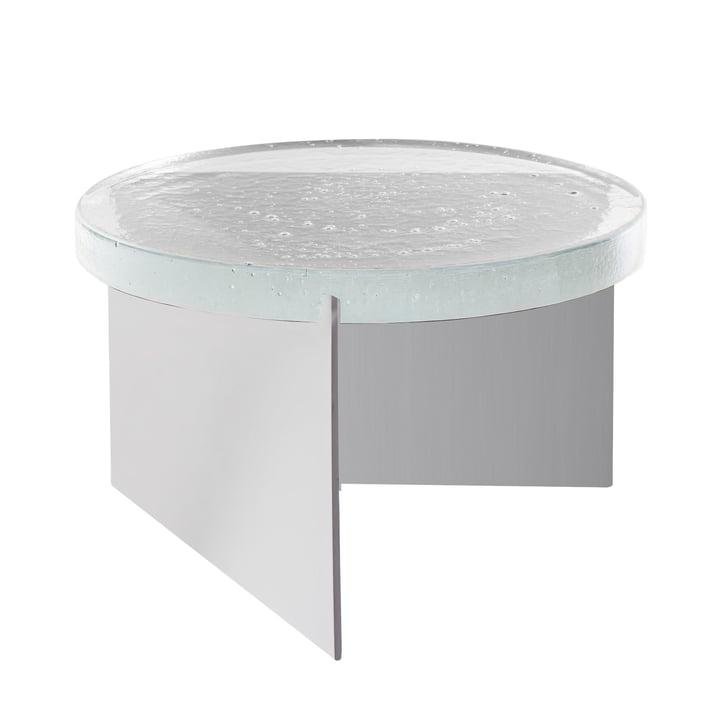 Der Pulpo - Alwa One Tisch Big in H 35 x Ø 56 cm, transparent / silver