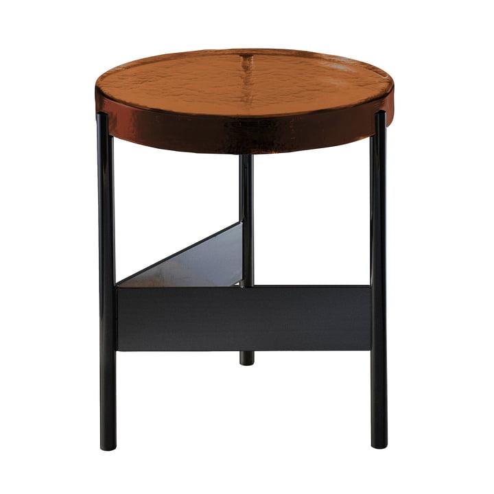 Der Pulpo - Alwa Two Tisch, H 44 x Ø 38 cm in amber / schwarz