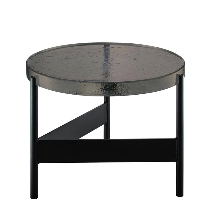Der Pulpo - Alwa Two Tisch Big, H 35 x Ø 56 cm in smoky grey / schwarz