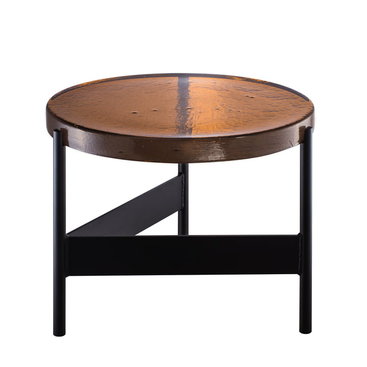 Die Pulpo - Alwa Two Tisch Big, H 35 x Ø 56 cm in amber / schwarz